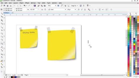 coreldraw tutorial notes pdf how to design a sticky note coreldraw x7 tutorial youtube