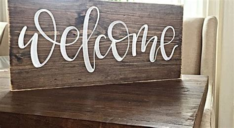 sign home decor rustic hand painted wood