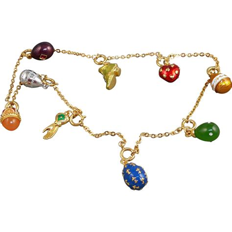 joan rivers egg charm necklace from antiqueali on ruby