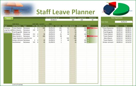 staff planner excel template leave planner staff leave planner pc learning