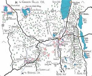 map of modoc county modoc county