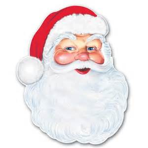 santa face small wall cling webhats com