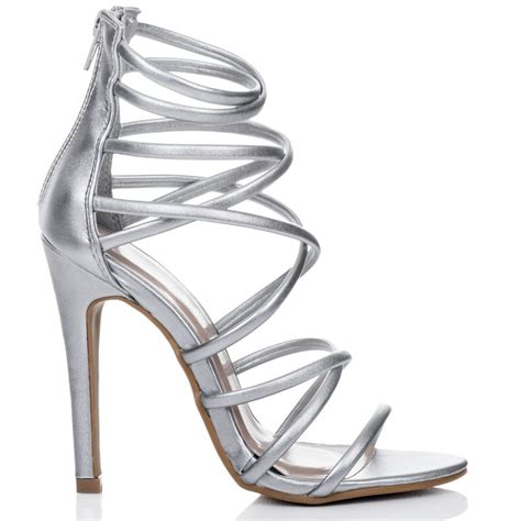 high heels silver shoes uzi silver sandals shoes from spylovebuy