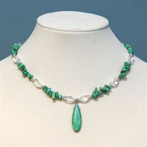 chip bead jewelry ideas turquoise teardrop gemstone chip necklace