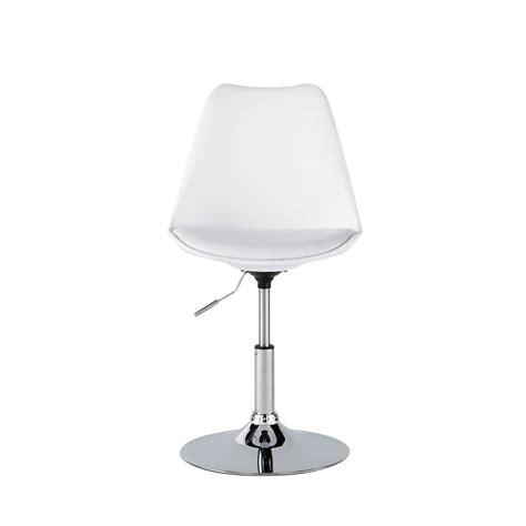 chaise r 233 glable en polyur 233 thane et acier blanche circle