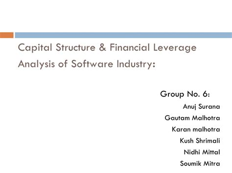 Capital Structure Of Tata Motors Mba by Capital Structure Financial Leverage Analysis Of