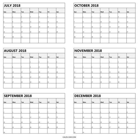 free six month calendar templates 6 month printable calendar printable calendar templates 2018
