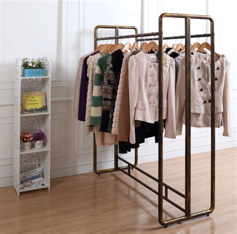 Gantungan Display Baju Tas 1 wrought iron clothing rack shelf clothing store window decoration rod clothes rack