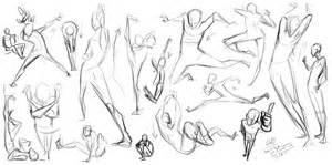 Gesture Drawing Pose Reference Sketch Coloring Page sketch template