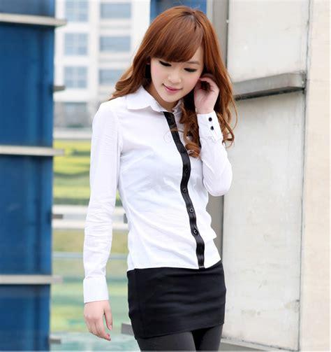 Kemeja Wanita Kemeja Lengan Panjang Kemeja Putih Yb 1 kemeja kerja wanita putih lengan panjang model terbaru jual murah import kerja