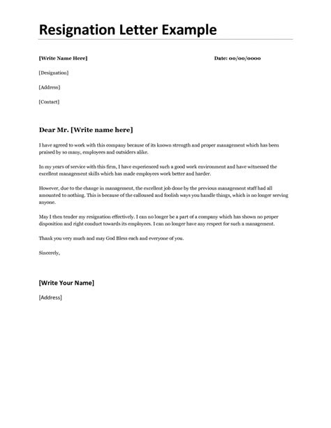 Proper Way To Write A Resignation Letter Resignation Letter Format How To Properly Write A