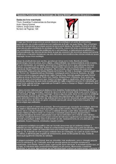 """(PDF) Resenha do livro """"""""Questões Fundamentais da"""