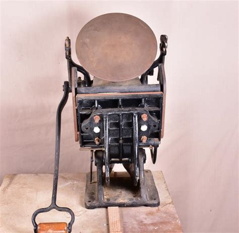 Vintage Top Printing Vintage Cast Iron Table Top Printing Press