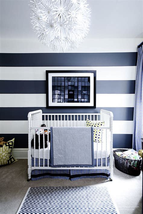 blue striped walls 20 chic nursery ideas for those who adore striped walls