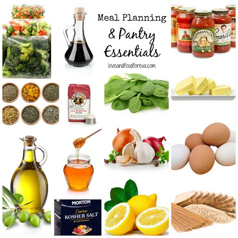 Pantry Meal Planner by Meal Planning Pantry Essentials Food Foreva