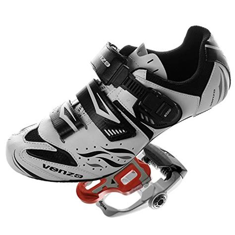 shimano bike pedals and shoes galleon venzo road bike for shimano spd sl look cycling