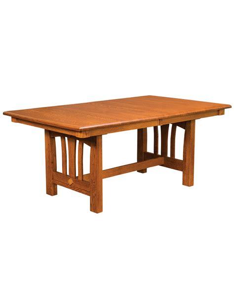 solid wood trestle table mondovi trestle table amish direct furniture