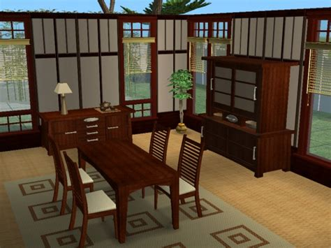 zen dining room mod the sims zen dining room set