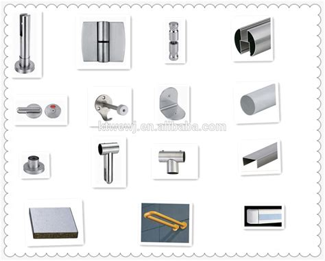 bathroom partition accessories zinc alloy toilet partition wall material buy partition