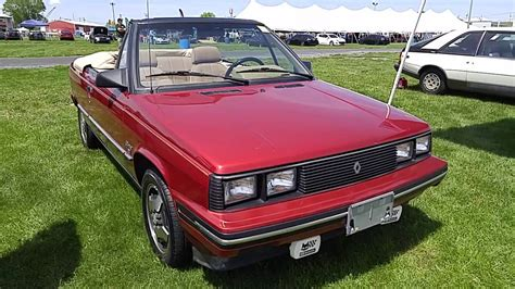 1985 renault alliance 1985 renault alliance 1 7l convertible youtube