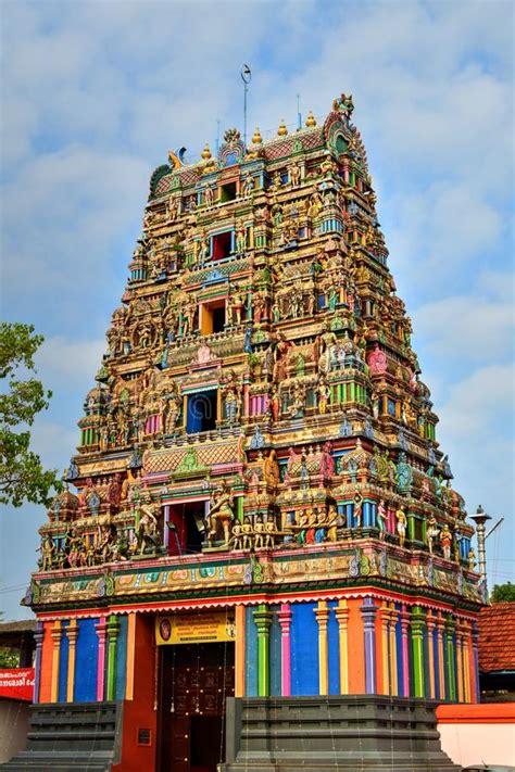 hindu temple south india kerala stock image image