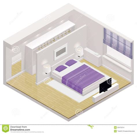 3d Kitchen Design App Vector Isometric Bedroom Icon Stock Images Image 33475314