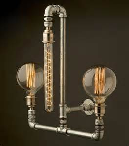 plumbing pipe light fixture edison light globes part 2 brassy steunk