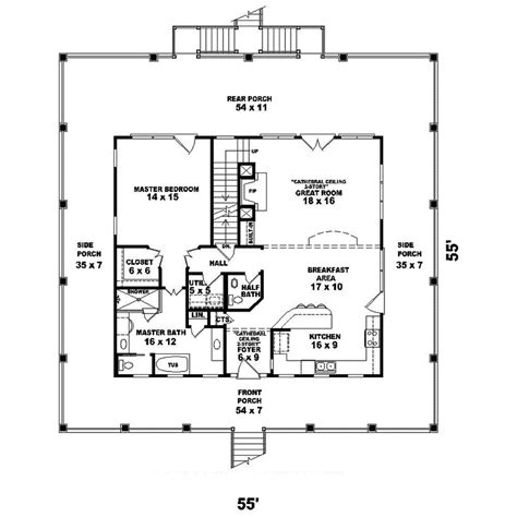 howell creek raised coastal home plan 087d 1557 house