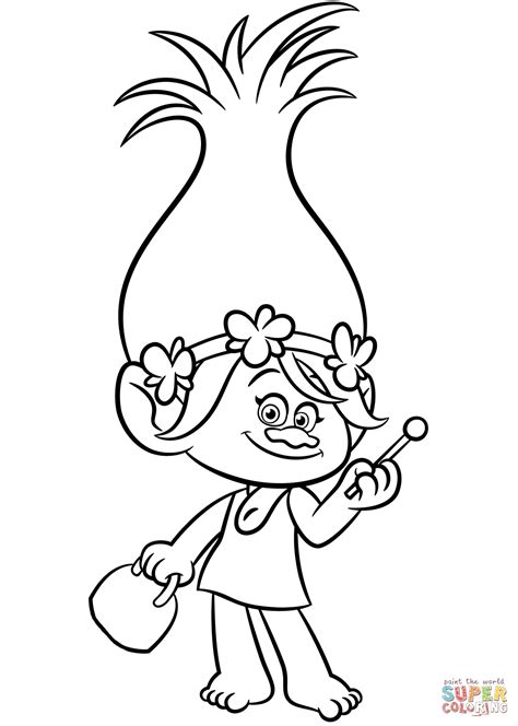 poppy from trolls coloring page free printable coloring