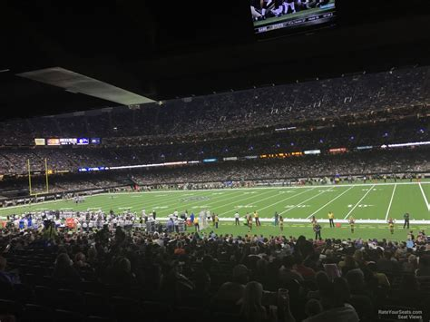 superdome sections superdome section 112 new orleans saints rateyourseats com