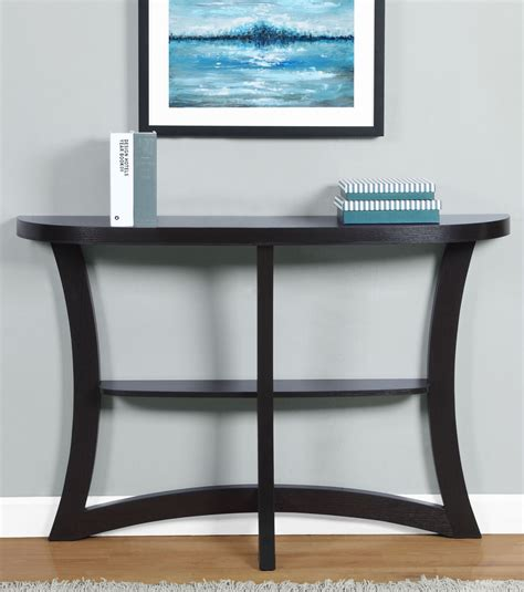 hall accent tables cappuccino 47 quot hall accent table 2415 monarch