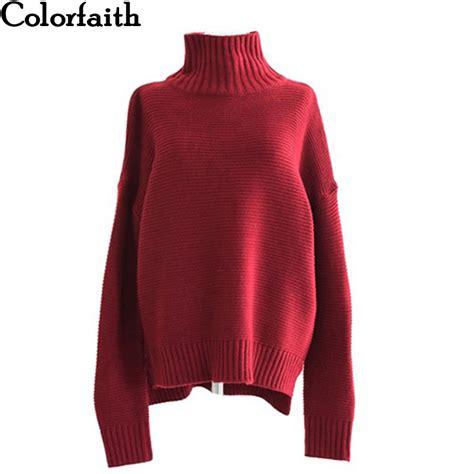 colorfaith pullover sweater 2018 knitting autumn