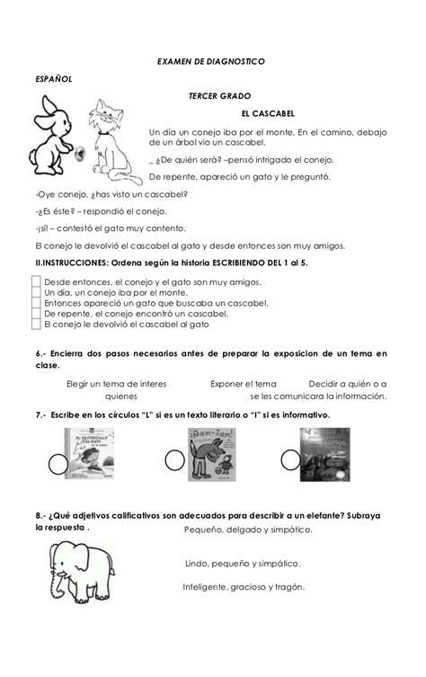 Examen 10 Espaol 1 El Otoo De 2012 Forgeology | examen de diagnostico primaria 3