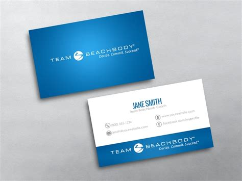 beachbody business cards templates beachbody business card 10