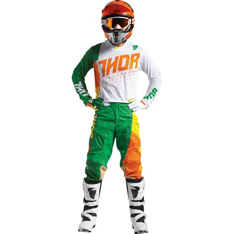 white motocross gear thor 2017 kids mx gear new void aktiv cactus green white