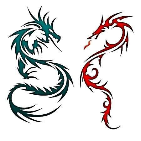 tattoo dragon fire cliparts co