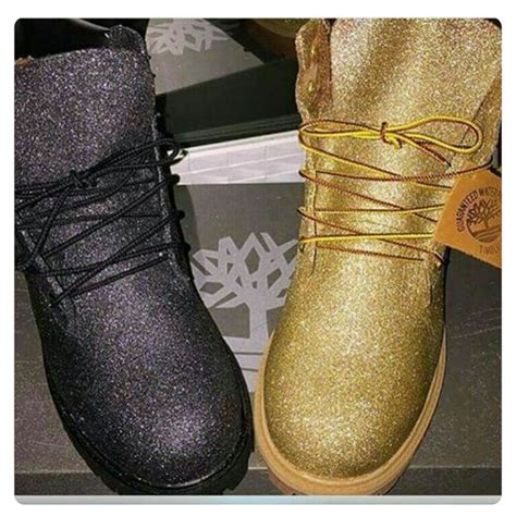 Boots E Glitter Putih New glitter timberland boots size