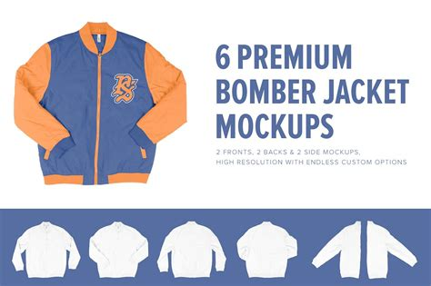 Jaket Hoodie Sweater Billfold 6 6 premium letterman jacket mockups product mockups creative market