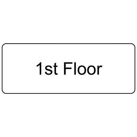 floor numbers 1st up to 99th engraved sign egre 250 blkonwht
