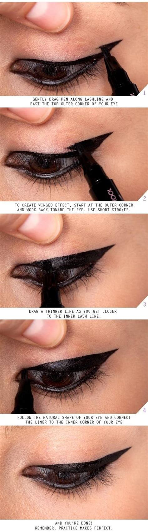tutorial for top eyeliner vintage triple winged eyeliner tutorial with step by