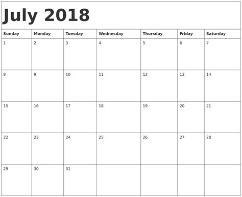 printable calendar 2018 with notes printable july 2018 calendar with notes printable