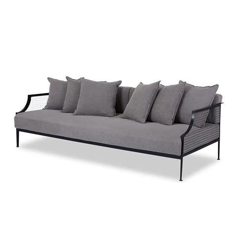 white linen sofa sale rex designer industrial sofa white steel frame light grey
