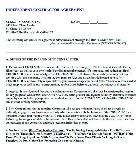 sub contractor agreement template free 11 subcontractor agreement template for successful