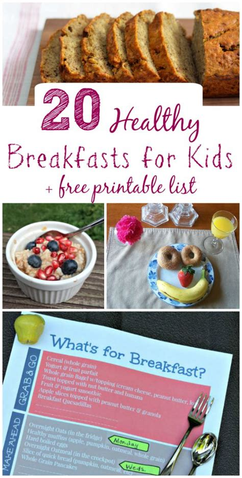 printable healthy breakfast recipes 20 healthy breakfast ideas w free meal planning printable