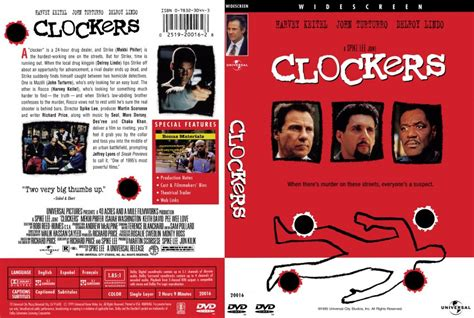 Clockers For Free Clockers Dvd Scanned Covers 219clockers Dvd Covers