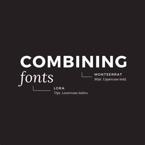 10 golden you should live by when combining fonts