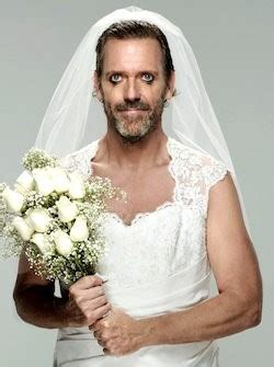 house season 8 cast hugh laurie is a bride in new cast photo of house season 8