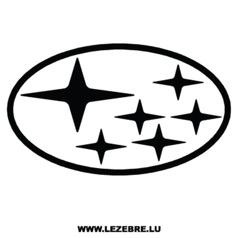 black subaru logo subaru logo decal