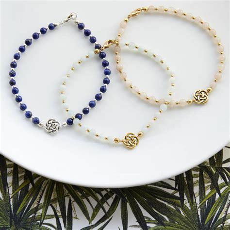 infinity knot gemstone friendship bracelet by