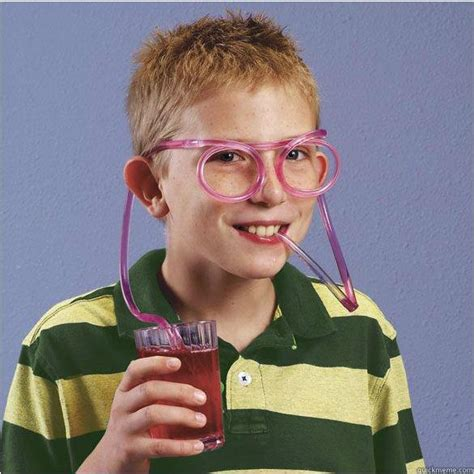 straw glasses deal with it memes quickmeme